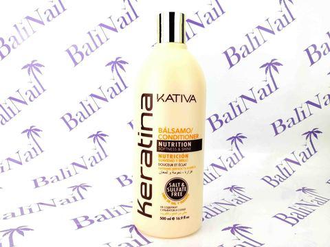 Kativa KERATINA Бальзам-кондиционер для всех типов волос кератиновый укрепляющий, 500 мл