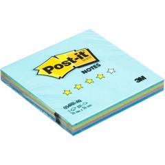 Стикеры Post-it Original Радуга акватик 76x76 мм неоновые 4 цвета (1 блок, 100 листов)