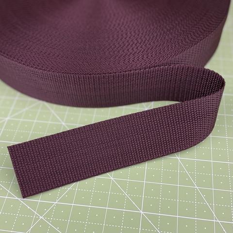Ременная лента (стропа), 4см, темно-коричневый
