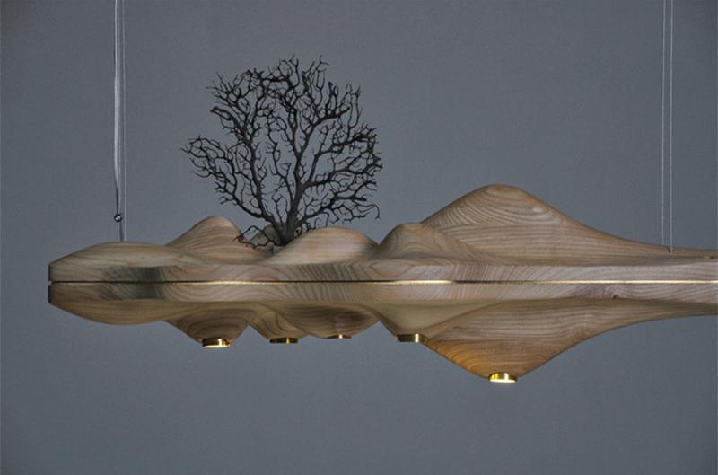 Подвесной светильник UFO by Light Room L80 (темное дерево)