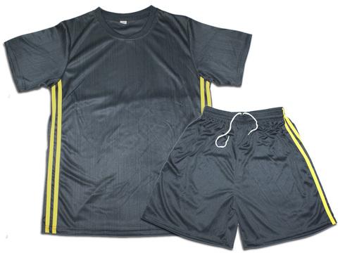 Форма футбольная. Цвет серый с жёлтыми полосками. Размер 44. Материал: полиэстер. F-JU-44# EU-38#