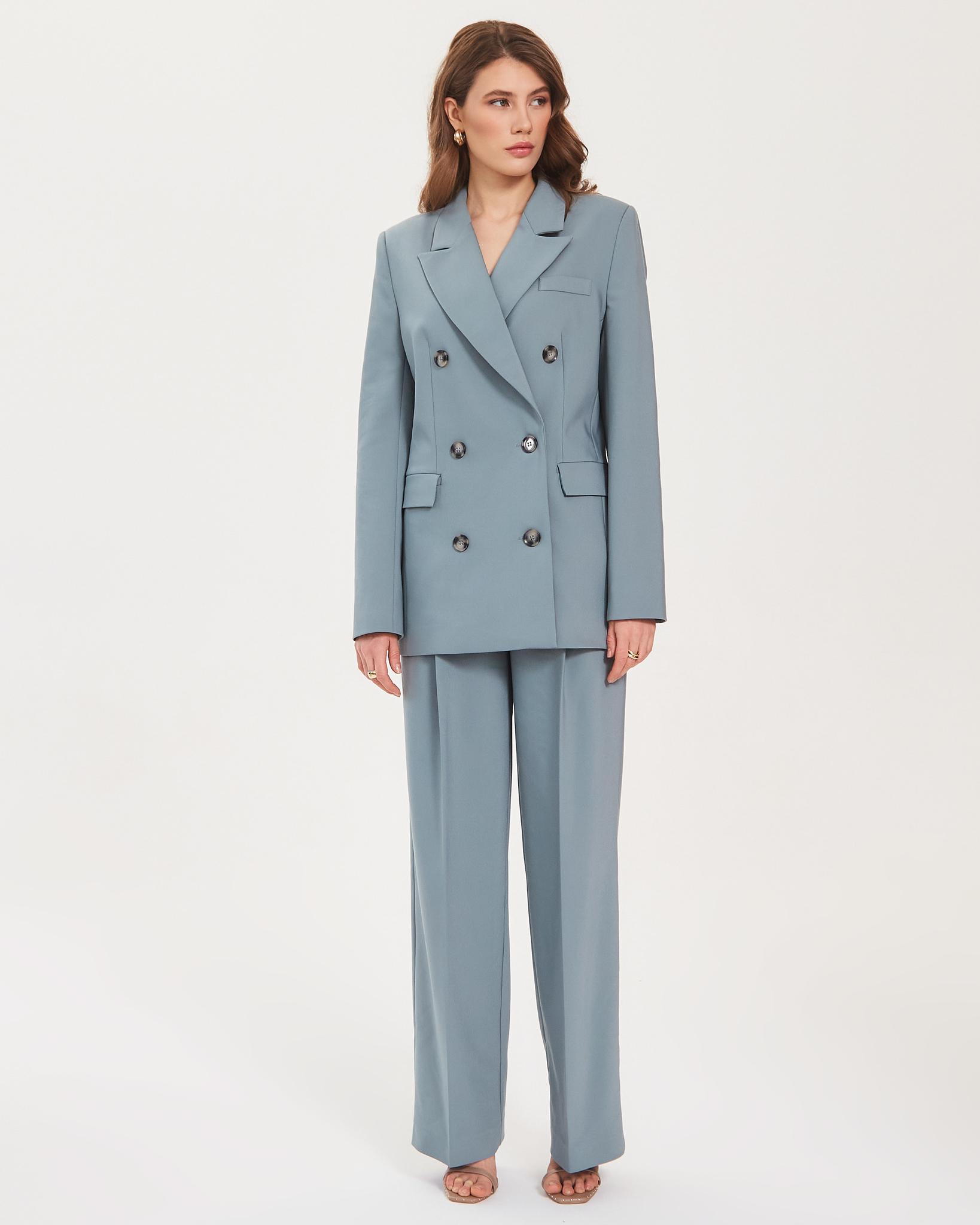 Пиджак двубортный ментоловый