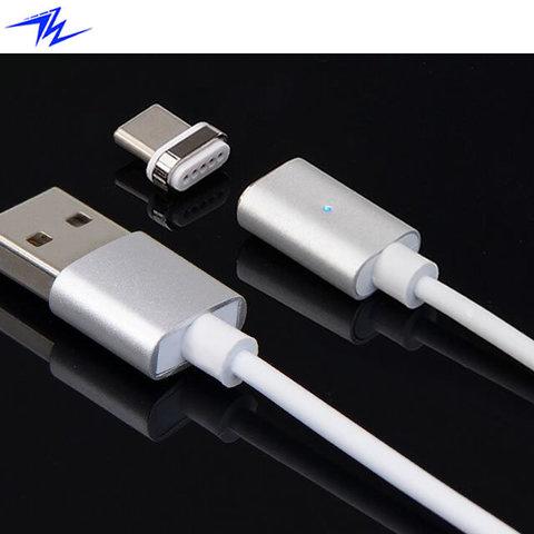 Магнитный кабель для передачи данных и зарядки электронных устройств с разъемом USB Type-C