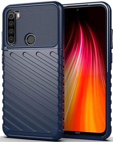 Carbon / Чехол для Xiaomi Redmi Note 8 серия Оникс | синий