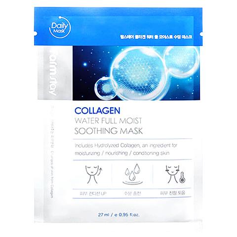 FarmStay Маска тканевая увлажняющая с коллагеном - Collagen water full moist soothing mask, 27мл