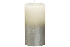 Свеча декоративная 6.8х13см Garda Decor Rustic кремовая с серебром 103668640305