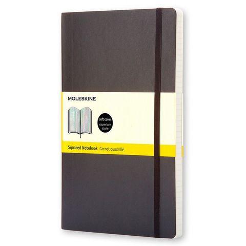 Блокнот Moleskine CLASSIC SOFT QP612 Pocket 90x140мм 192стр. клетка мягкая обложка черный