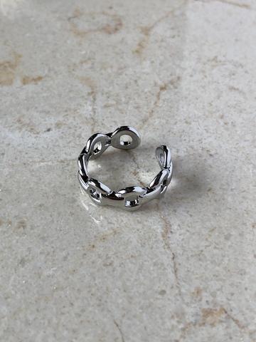 Кольцо Дидри, серебряный цвет