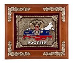 """Панно """"Россия"""" цвет - орех"""