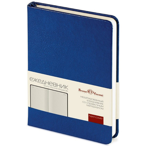 Ежедневник недатированный Bruno Visconti Megapolis искусственная кожа А6 100 листов синий (88x131 мм)