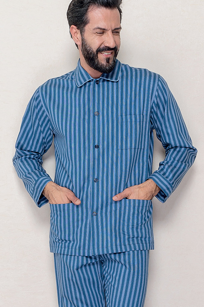 Фланелевая пижама в полоску B&B