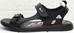 Модные босоножки сандалии мужские кожаные Nike 40-3 Leather Black.
