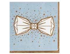 Салфетки бумажные, LUX, Бант, Серые с золотым кантом(Свадьба), 33 см, 6 шт, 1 уп.