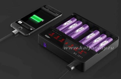 Зарядка Efest EF LUC V6 на 6 аккумуляторов
