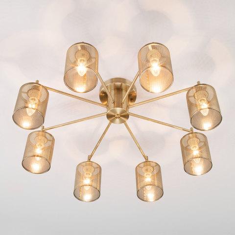 Потолочная люстра в стиле лофт 70109/8 античная бронза