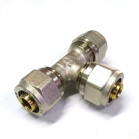 Тройник  для металлопластиковых труб  разборной равносторонний 16 мм SD Forte