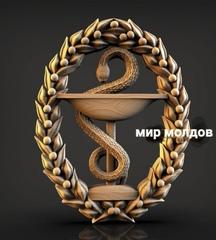 Силиконовый молд № 450  Эмблема  медицины