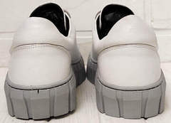 Женские белые кеды кроссовки кожаные Guero G146 508 04 White Gray.