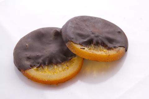 Апельсиновий цукат в шоколаді