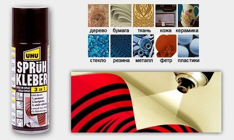 Клей-спрей UHU универсальный 3 в 1, арт.48900