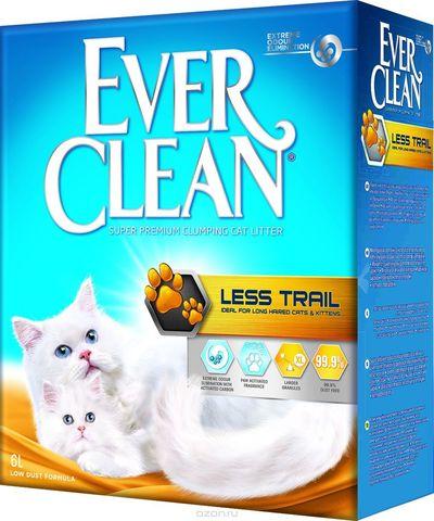 EVER CLEAN LESS TRAIL  комкующийся д/котят и длиношерст. кошек 6л (3,17кг)