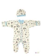 ФЭСТ, Hunny Mammy. Комплект детский стерильный, в роддом, молочный/светло-голубой вид 1
