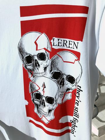 Футболка LeRen Fight Skull White