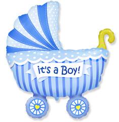 F Коляска для мальчика (голубая), 36
