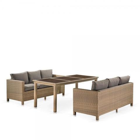 Комплект плетеной мебели T365/S65B-W65 Light Brown