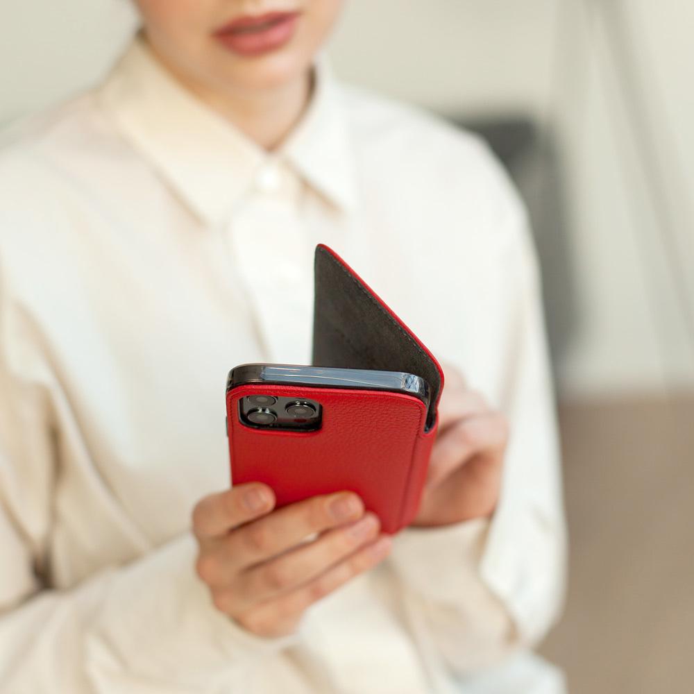 Чехол Benoit для iPhone 12 Pro Max из натуральной кожи теленка, красного цвета