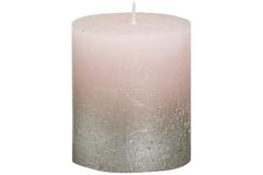 Свеча декоративная 6.8х8см Garda Decor Rustic розовая с серебром 103668630304