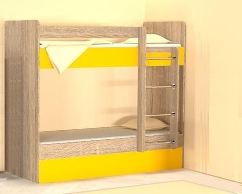 Кровать двухъярусная ОНТАРИО правая 1800-700 /1832*1604*852/