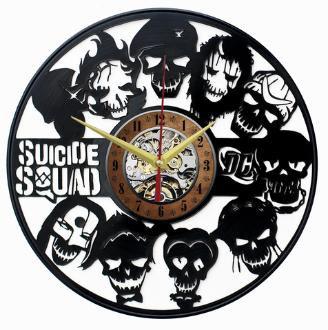 Отряд самоубийц Часы из Пластинки