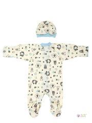 ФЭСТ, Hunny Mammy. Комплект детский стерильный, в роддом, молочный/светло-голубой вид 2