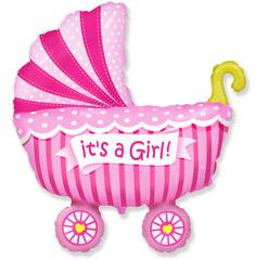 F Коляска для девочки (розовая), 36