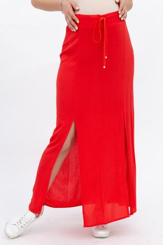 Юбка для беременных 08631 красный