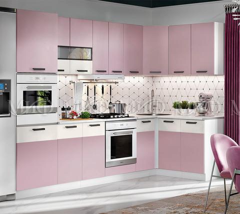 Кухня угловая Рио №2 розовый