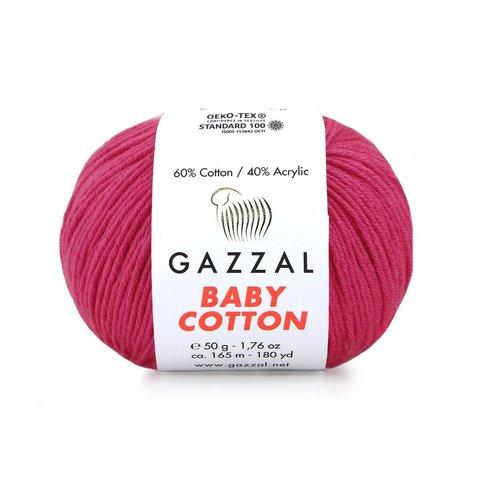 Пряжа Gazzal Baby Cotton 3415 малина