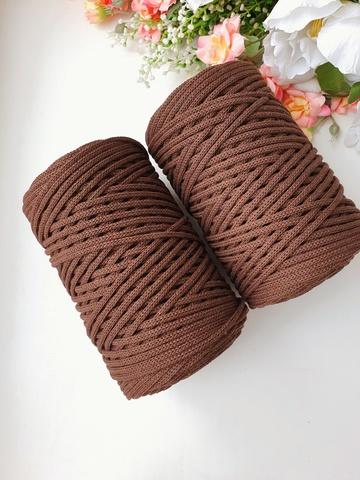 Шоколад  Хлопковый шнур 3 мм