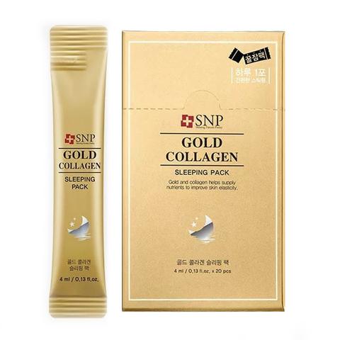 SNP Ночная маска на основе золота GOLD COLLAGEN SLEEPING PACK 4 мл