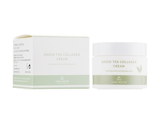 Успокаивающий крем на основе коллагена и экстракта зелёного чая, 50мл, The Skin House