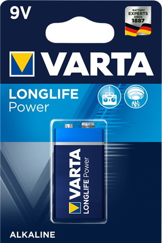 Батарейки Varta High Energy 6LR61, 9V крона (1/10) BL