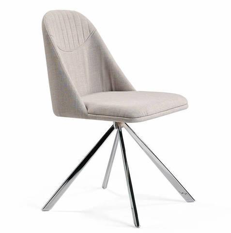 Поворотный стул Espacio Malva белый