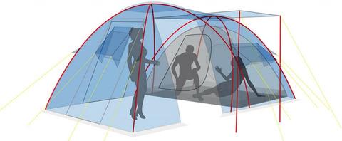 Палатка Canadian Camper GRAND CANYON 4, цвет royal, схема 3.