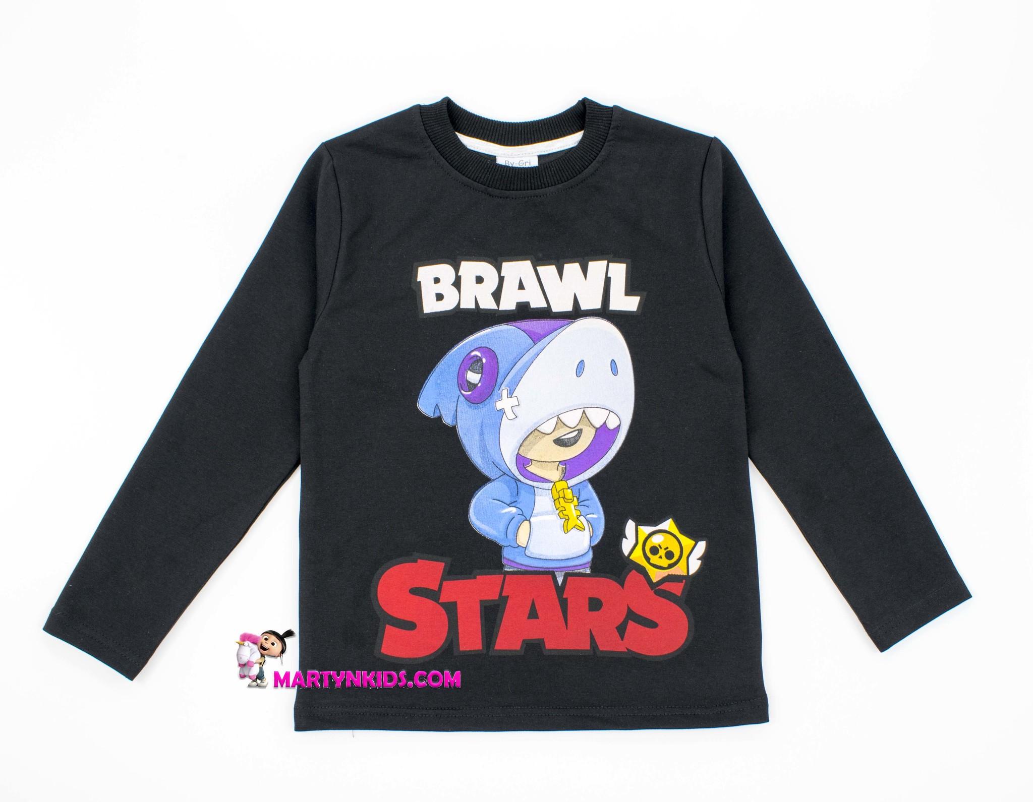 2750 лонгслив BRAWL STARS акула