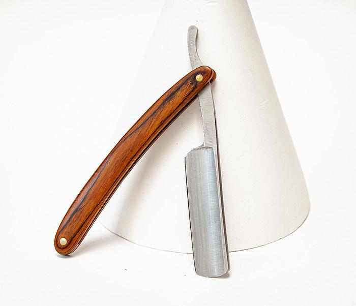 RAZ542-1 Классическая опасная бритва с деревянной рукояткой фото 03
