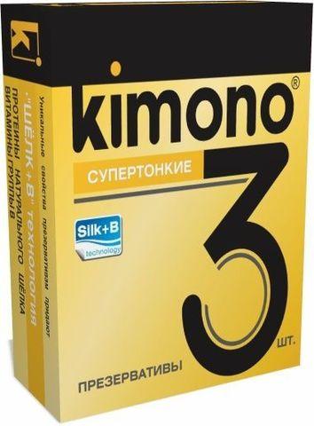 Супертонкие презервативы KIMONO - 3 шт.
