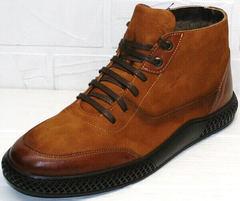зимние коричневые ботинки мужские