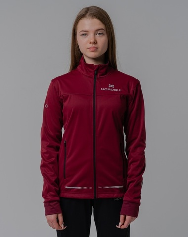 Разминочная куртка Nordski Jr.Pro wine подростковая