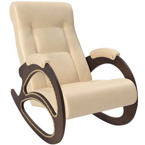 Кресло-качалка Комфорт модель 4 экокожа с лозой